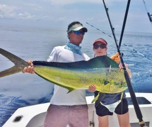 Some of the best fishing in Costa Rica can be had in Playa Herradura.