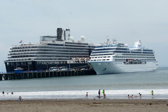 Cruise ships at Puntarenas, Costa Rica