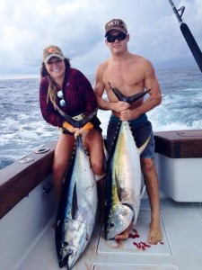 Huge yellow fin tuna and other tuna species are being caught in Costa Rica