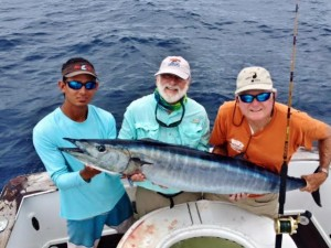 Fishing for Wahoo and other species while chartering a boat in Costa Rica