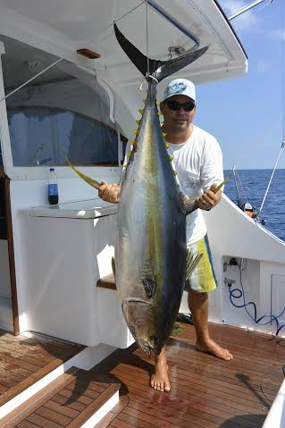 Yellow Fin Tuna caught off the Costa Rican coast